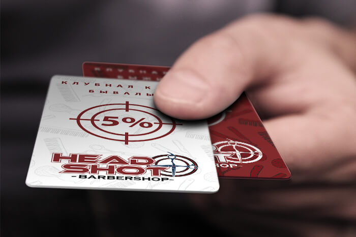 барбершоп headshot клубные карты