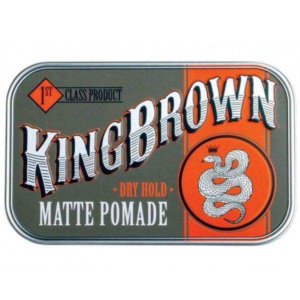 King Brown Matte Pomade (Австралия) - Матовая помада для укладки 75 гр