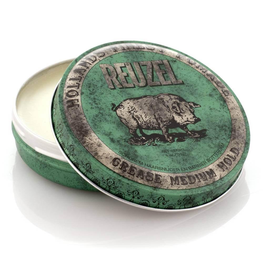 Reuzel Grease Medium Hold (Нидерланды,США) - Помада для укладки волос средней фиксации 35/113 гр